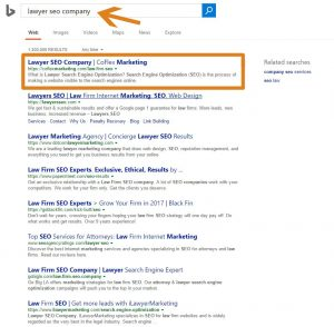 Bing Search Results