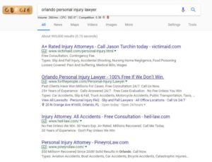 Paid PPC Search Law Firms in Google